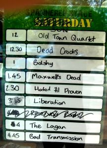 stage times sunday