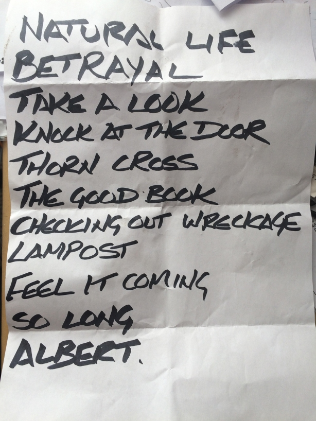 Northern Embezzler set List